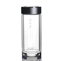 思宝玻璃杯溢天香男士女士双层水杯礼盒装办公泡茶杯280/360/460ml