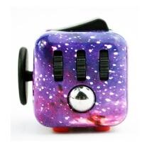 减压骰子魔方fidget cube美国手指多动症强迫无聊玩具解压发泄 星空紫 齿轮有阻尼有声音 限量版 均码