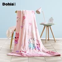 多喜爱家纺冬季毛毯小猪佩奇儿童卡通法拉绒毯