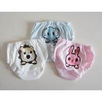 全棉男童女童内裤 婴幼儿精梳棉三角内裤 小童棉质面包裤 四枚入