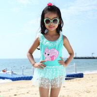 儿童泳衣女童宝宝连体裙式泳装0517中小童小女孩游泳衣 支持礼品卡支付