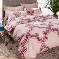 秋日暖阳枫叶色冬款棉加厚双面保暖拉绒磨毛棉床上用品四件套