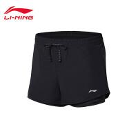 李宁运动短裤女士2018新款跑步系列女装夏季梭织运动裤AKSN034