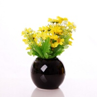 迷你陶瓷插花瓶仿真花艺套装简约现代家居家装饰品客厅酒柜小摆件