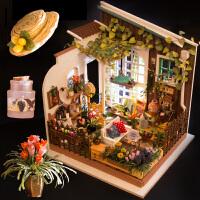 手工创意房屋模型diy小屋拼装制作女生玩具生日礼物阳光花园