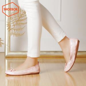 达芙妮旗下SHOEBOX/鞋柜蛋卷女鞋 浅口套脚甜美平底单鞋