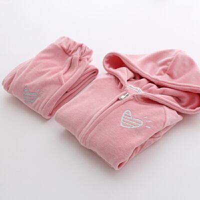 女童套装春秋装童装女童爱心运动服两件套儿童宝宝套装173077 发货周期:一般在付款后2-90天左右发货,具体发货时间请以与客服协商的时间为准