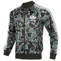 Adidas阿迪达斯 三叶草 男子 运动外套 立领迷彩夹克BS4959