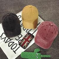 儿童鸭舌帽春秋季男宝宝帽子棒球帽遮阳帽韩版女童帽潮做旧水洗布