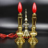 电蜡烛led灯泡电香烛台电子供佛灯供财神佛像长明灯佛堂佛具用品
