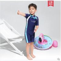 男童泳衣套装长袖分体中大童防晒保暖加厚潜水服儿童游泳裤3-11岁