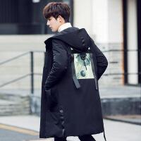 韩版修身中长款羽绒服男潮新款冬装反季清仓加厚保暖连帽大衣