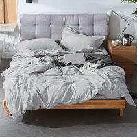 床上床品套件四件套纯棉全棉水洗棉床单被套网红款北欧风学生宿舍