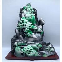 珠宝玉石雕刻玉器原石奇石南阳独山玉雕摆件翡翠工艺品迎客松 默认款式