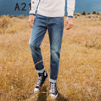 A21以纯线上品牌2017秋装新品修身牛仔裤男 休闲多色低腰弹力小脚裤4741003008