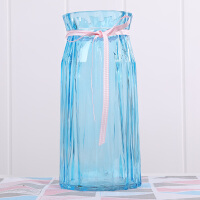 欧式花瓶玻璃透明客厅插花小清新富贵竹水培百合玫瑰鲜花餐桌摆件 特