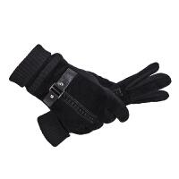 中老年秋冬男士爸爸保暖手套加绒厚老年人手套男冬季老人爷爷手套
