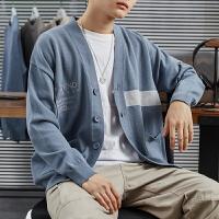 【限时抢购】唐狮2020春新款宽松毛衣男外套ins港风针织开衫男士韩版潮流毛衫