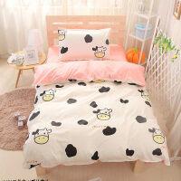 棉儿童被套1.5m学生宿舍单人床单三件套1.2m床上用品棉女生夏