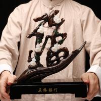 五福临门创意客厅家居酒柜工艺品摆件 手工精雕镶嵌玉石