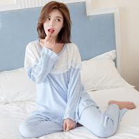 慈颜月子服秋季产妇哺乳衣产后喂奶睡衣秋季韩版孕妇家居服套装FJC210