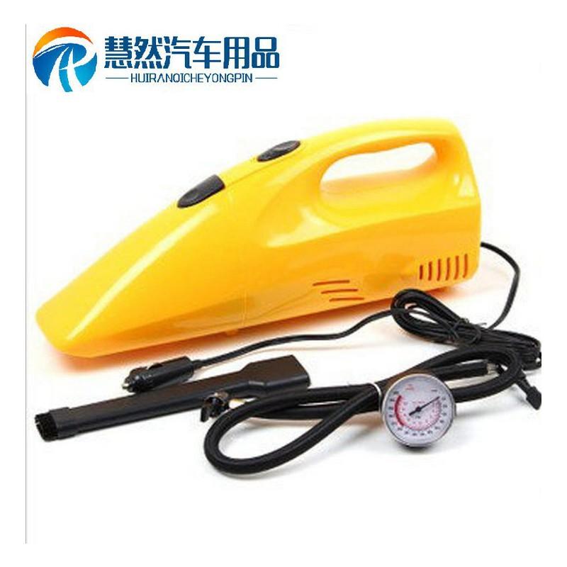 汽车二合一车载吸尘器 打气吸尘胎压表 大功率车载吸尘器
