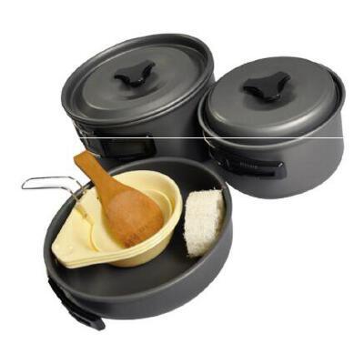 耐高温耐摩擦便携户外组合餐具炊具户外野营套锅 2-3人野餐锅具 品质保证,支持货到付款 ,售后无忧