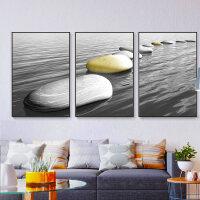 客厅装饰画沙发背景墙北欧风格壁画现代简约玄关艺术大气墙画挂画 60*80 25mm油画布艺面 黑色边框(一套的