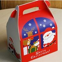 新款圣诞节礼品盒定做麋鹿手提卡通糖果盒巧克力糖果包装盒 8.7*6.3*13CM