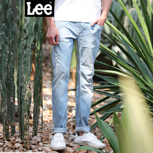 Lee男装 精玉透凉商场同款2017春秋新品水洗牛仔裤 L11709P664MH