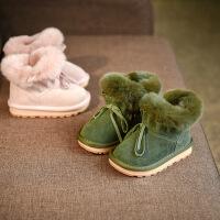 宝贝鞋子男童2女孩1-3岁宝宝棉靴子儿童保暖雪地靴韩版女童冬靴潮
