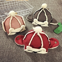 儿童帽子冬季加绒护耳雷锋帽保暖秋天男女宝宝帽子1-2岁婴儿帽潮