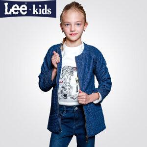 LEE童装 女童长袖牛仔上衣中大儿童加厚外套2RW50669