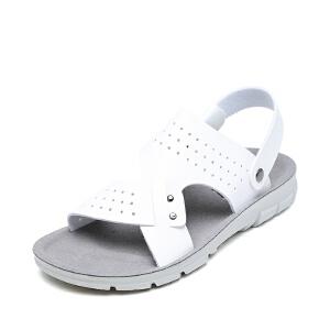 SHOEBOX/鞋柜夏季 新款防滑沙滩男凉鞋两穿休闲凉拖鞋