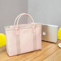 姬佧商务休闲手提包尼龙布包女士公文包大容量资料袋单肩包电脑包