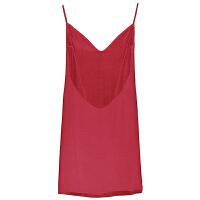 家居服性感睡衣细肩带红趣无袖少女露背A字睡裙吊带