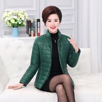 中老年女装小棉袄40岁50短款2017新款大码妈妈冬装棉衣服外套加厚