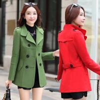 秋冬天呢子大衣中年少妇女装25-30-35-40岁韩版衣服显瘦毛呢外套