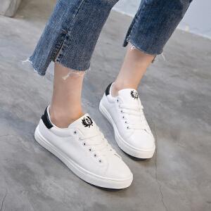 新百伦阿迪 秋季女鞋2017新款潮韩版休闲鞋百搭帆布鞋平底学生鞋子女运动板鞋