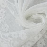 窗帘纱帘布白纱薄窗纱布料成品落地白色莎飘窗沙帘阳台纱