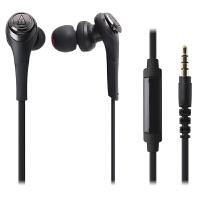 铁三角(Audio-technica)ATH-CKS550IS 重低音 手机通话入耳式耳机 黑色