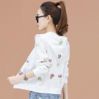 夏装流行薄款短外套女春秋季绣花白色空调衫2019新款韩版宽松开衫