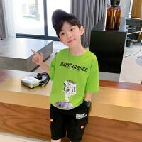 【2件2折】左西男童短袖T恤夏装2021新款 儿童中大童体恤上衣纯棉夏季