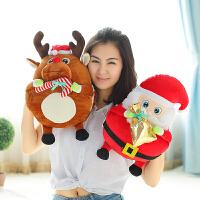 毛绒玩具玩布娃娃圣诞节礼物暖手抱枕圣诞老人公仔儿童生日礼物女