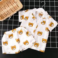 夏款男女童小熊家居服套装睡衣两件套