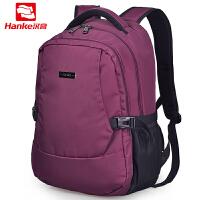 汉客(HANKE)卓越品质时尚休闲电脑包17寸19寸双肩背包休闲运动包旅行包 601905