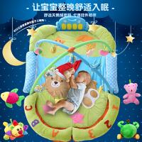 活石 婴儿玩具 0-3-6个月健身架0-1岁新生儿宝宝脚踏钢琴游戏毯超大爬行垫
