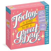 【现货】英文原版 今天是美好的!2019年日历 每天一页 艺术字箴言 Today Is Going to Be a Gr