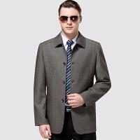 中年男装夹克衫爸爸装秋装外套修身中老年人男士立领休闲夹克长袖