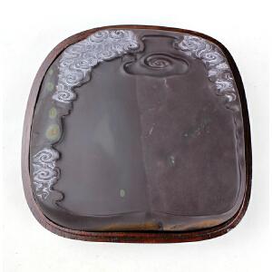 麻子《浮星闪耀》砚 天青底鱼脑冻石品出色 大师作品珍品收藏